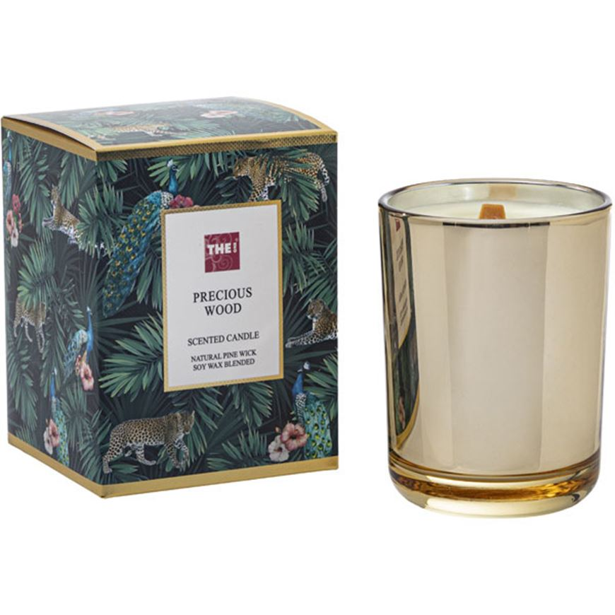 Picture of PRECIOUS WOOD candle gold