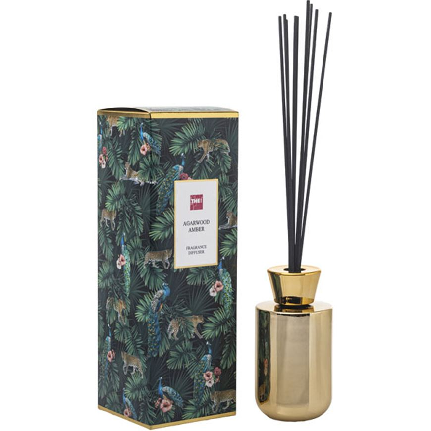 Picture of AGARWOOD AMBER diffuser 180ml gold