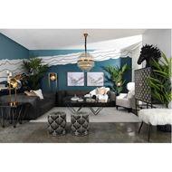 HOGARTH sofa 3.5 leather grey