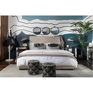 VEE bed 180x200 microfibre natural