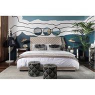 VEE bed 160x200 microfibre natural