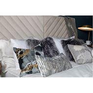 NATTY cushion cover 30x60 blue/cream