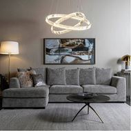 JUNO chandelier d100cm clear/chrome
