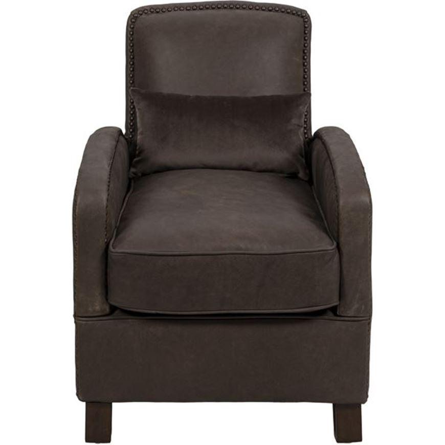 ALI armchair leather dark brown