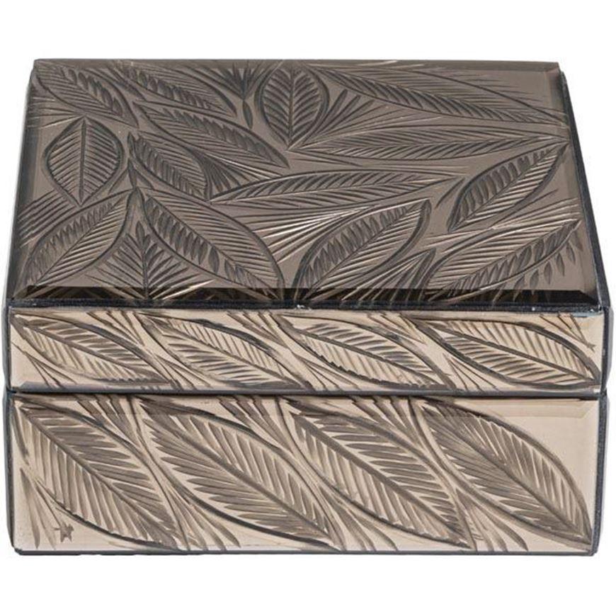 LEAF box 17x17 brown