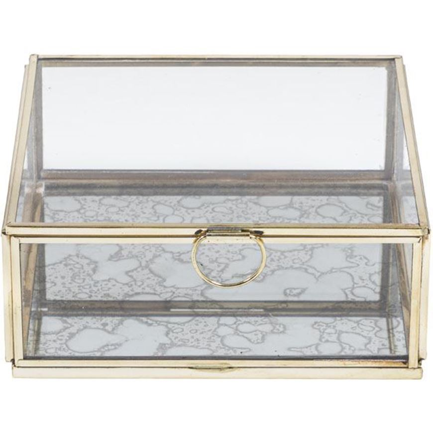 ELLISON box 16x16 clear/gold