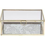 ELLISON box 21x14 clear/gold