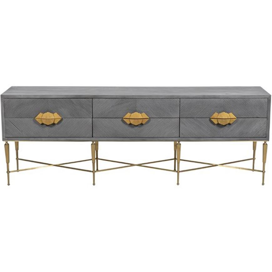 TOTO console 200x40 grey/gold