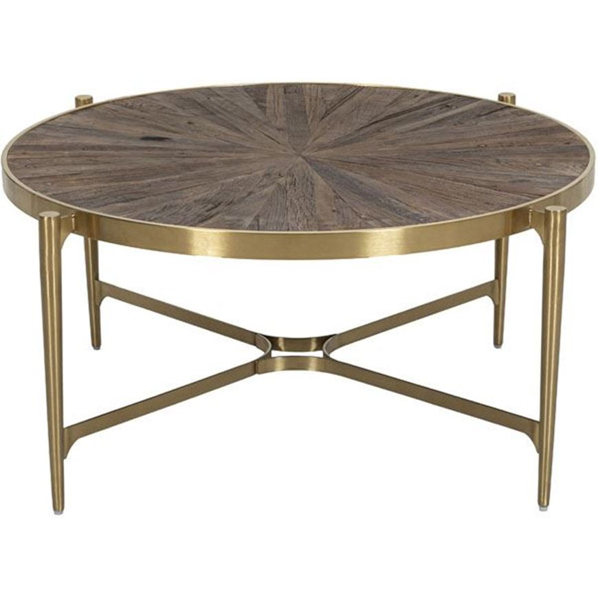 BORLY coffee table d107cm natural/gold