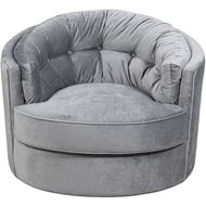NIGHT armchair microfibre grey