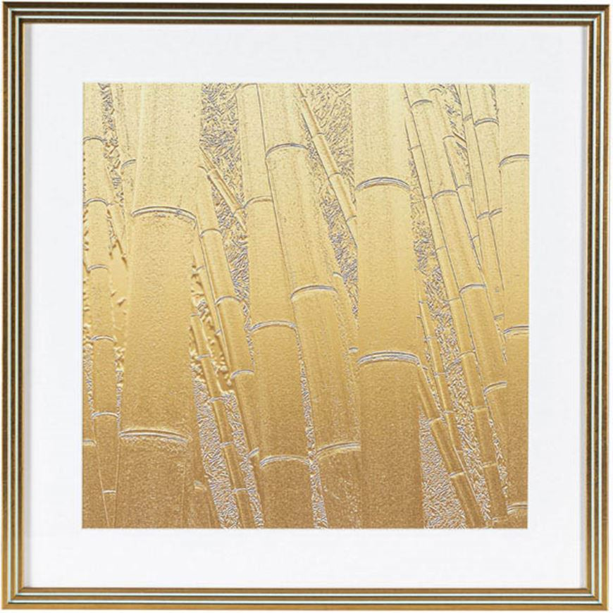 Picture of BAMBOO I print 53x53 gold